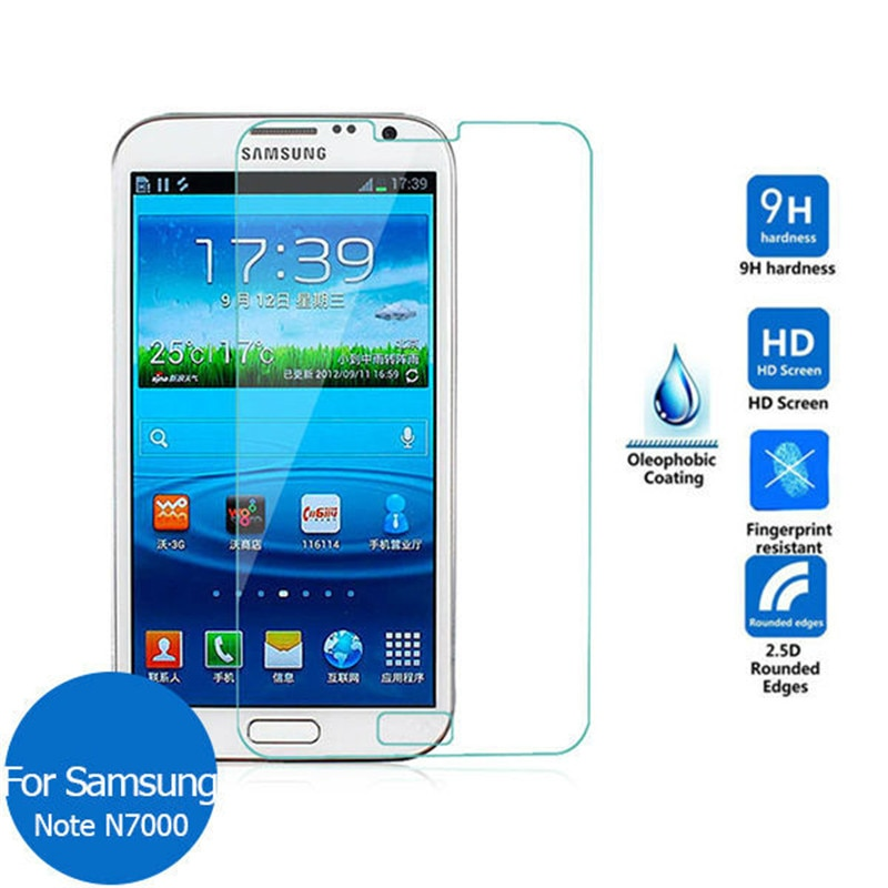 9H templado Premium de cristal para Samsung Galaxy Nota/N7000 i9220 i9228 Protector...