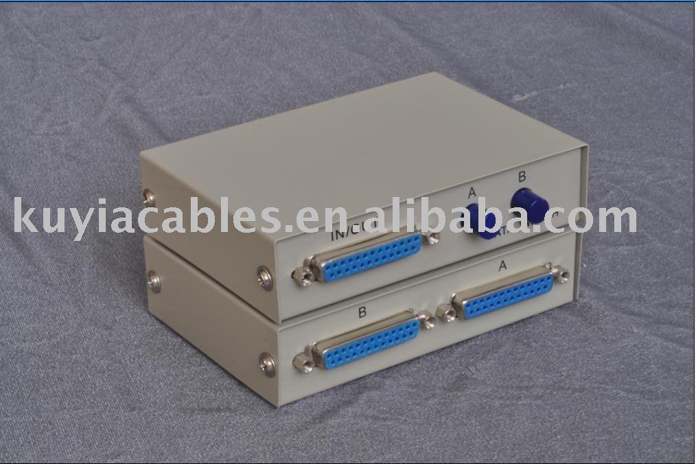 ¡KUYiA, Envío Gratis + número de seguimiento! Caja de interruptores de 2 puertos, DB-25, 25 pines, para compartir impresoras paralelas + W/paquete al por menor