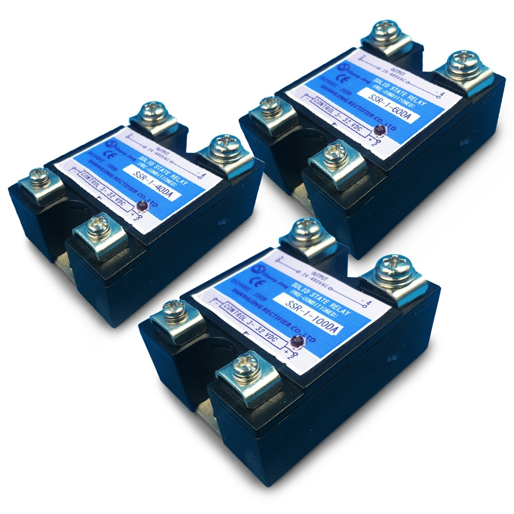 Envío Gratis relé de estado sólido de buena calidad SSR 40A 60A 80A 100A entrada única pahse 3 ~ 32VDC salida 35 ~ 480VAC