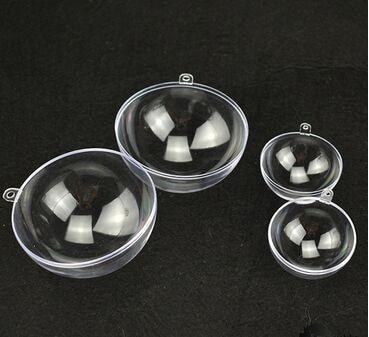 50psTypes 10cm Transparent Ball Christmas Clear ball Romantic Design Xmas Decorations