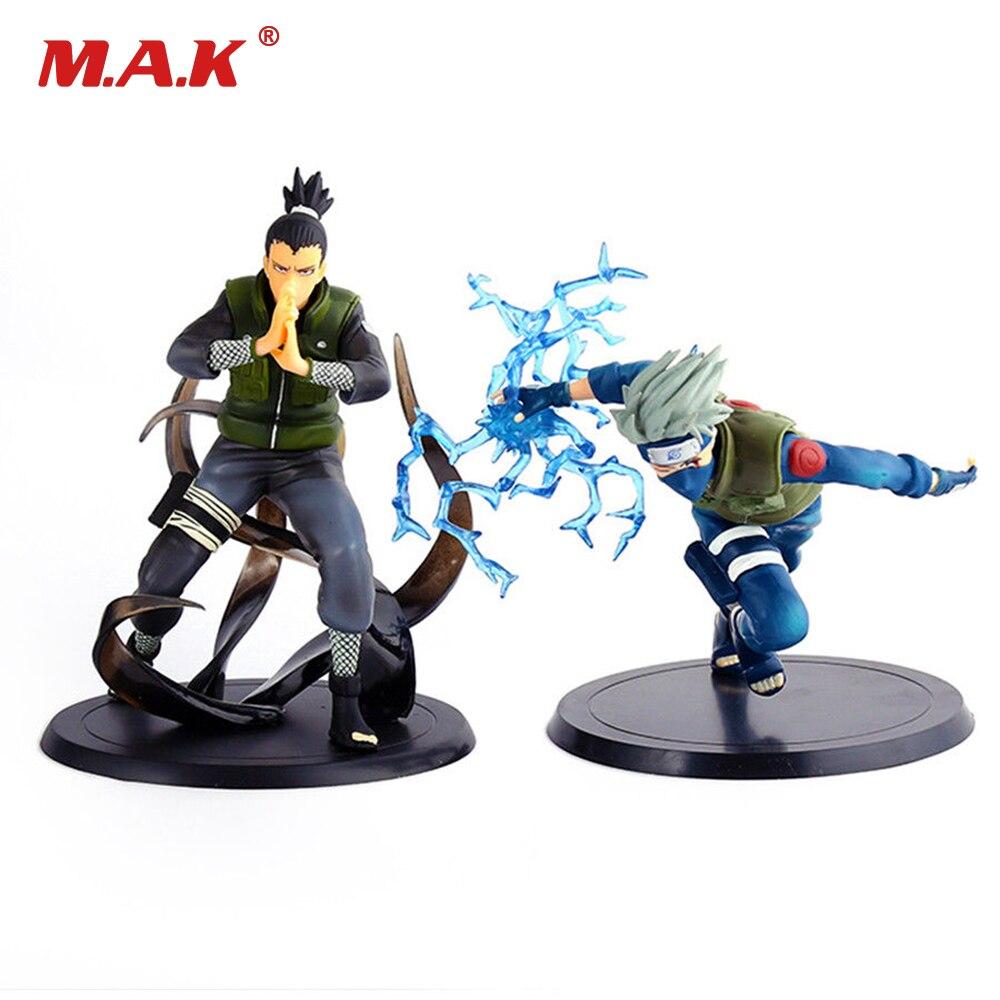 2 pçs/set anime figura Naruto Nara Shikamaru e 16 centímetros estatueta Japonês Hatake Kakashi PVC brinquedos para crianças crianças