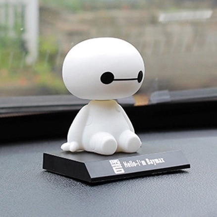 2019 NEUE Big Hero 6 Baymax Spielzeug Modell Puppen figma 10cm Reizende Nette Automobil Kopf Schütteln Bobble Kopf Action abbildung Geschenk