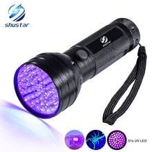 Uv Led lampe de Poche 51 Led 395nm Ultra Violet Lampe Torche lampe Blacklight Détecteur pour Chien Urine Taches Danimaux et Lit Bug