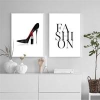 Cuadros     affiches et imprimes a talons hauts noirs et blancs  toile  peinture murale a la mode  images imprimees pour decoration de maison
