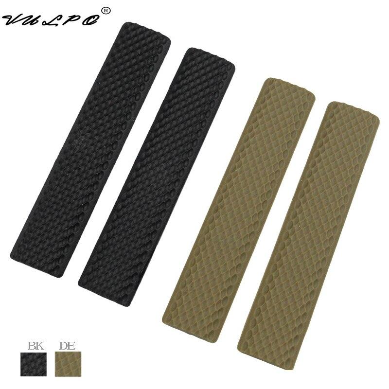 VULPO 4 teile/satz Weiche Gummi Schiene Abdeckung Handschutz Panel für Keymod Stil Handschutz Schiene