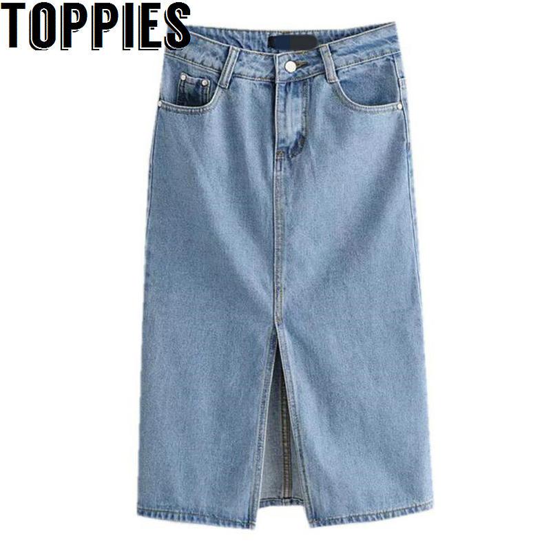 Женские джинсы Toppies, светло-синие джинсы с высокой талией