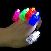 Party Favor Kid Speelgoed Geschenken LED Vinger Lamp LED Finger Ring Lights Glow Laser Vinger Balken Ring LX4516