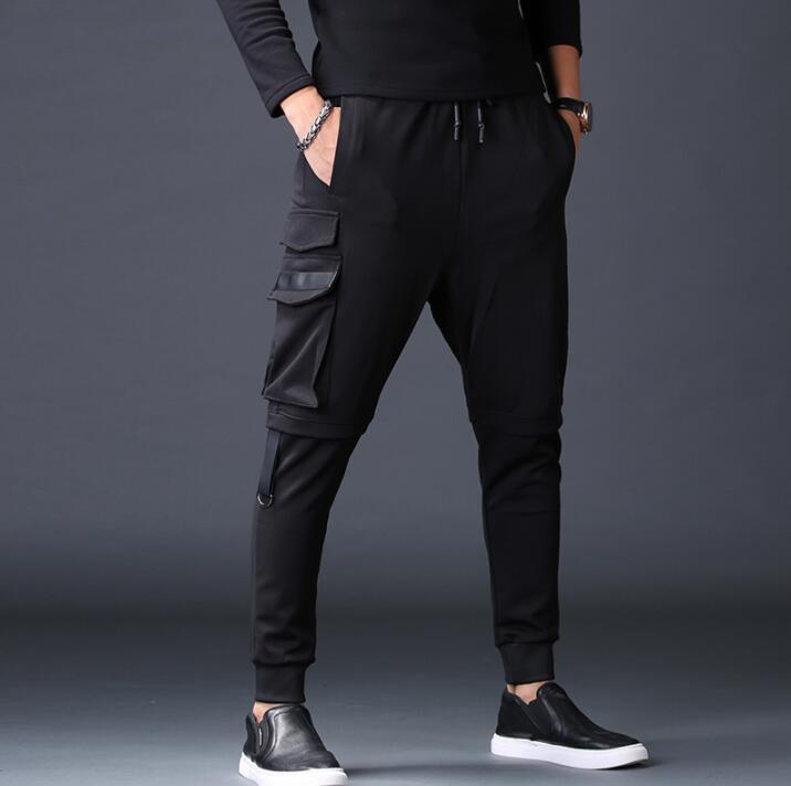 Мужские штаны с несколькими карманами, свободные шаровары, Мужские штаны, повседневные брюки, мужские штаны, Мужские штаны на осень и зиму