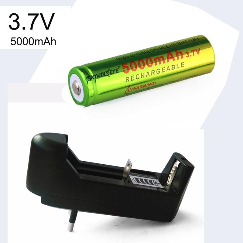 3,7 V 5000mAH литий-ионная аккумуляторная батарея 18650 + зарядное устройство EU/US для фонарика аварийное освещение портативные устройства Инструменты