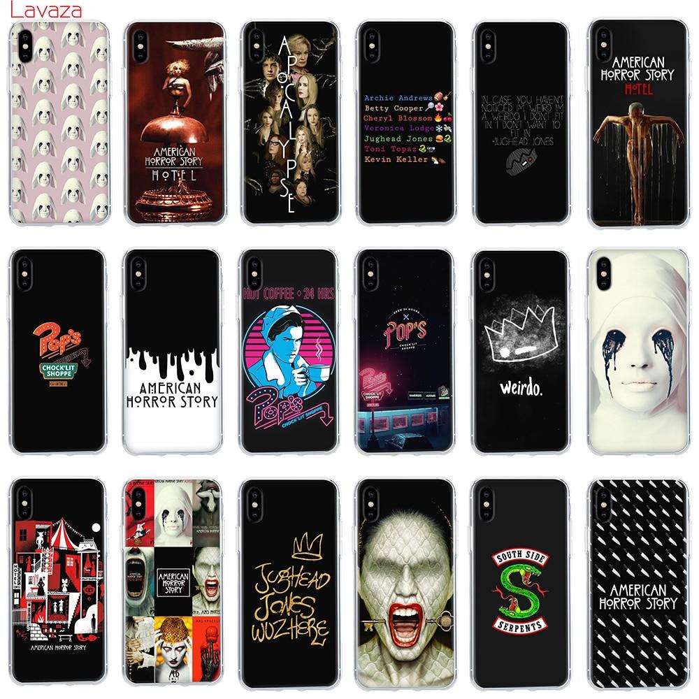 Funda con diseño de Horror Story de Lavaza Riverdale para TV American para Apple iPhone 6 6s 7 8 Plus X 5 5S SE, funda para iPhone XS Max XR