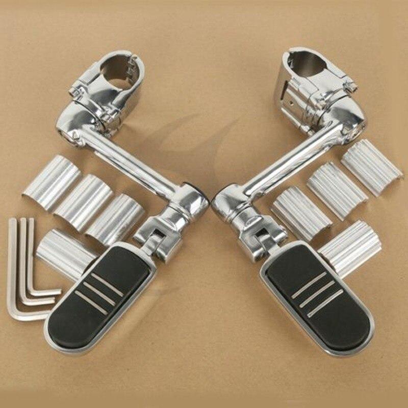 Estriberas delanteras de aluminio para motocicleta 22mm 30mm 35mm para Honda Goldwing GL1800 Universal