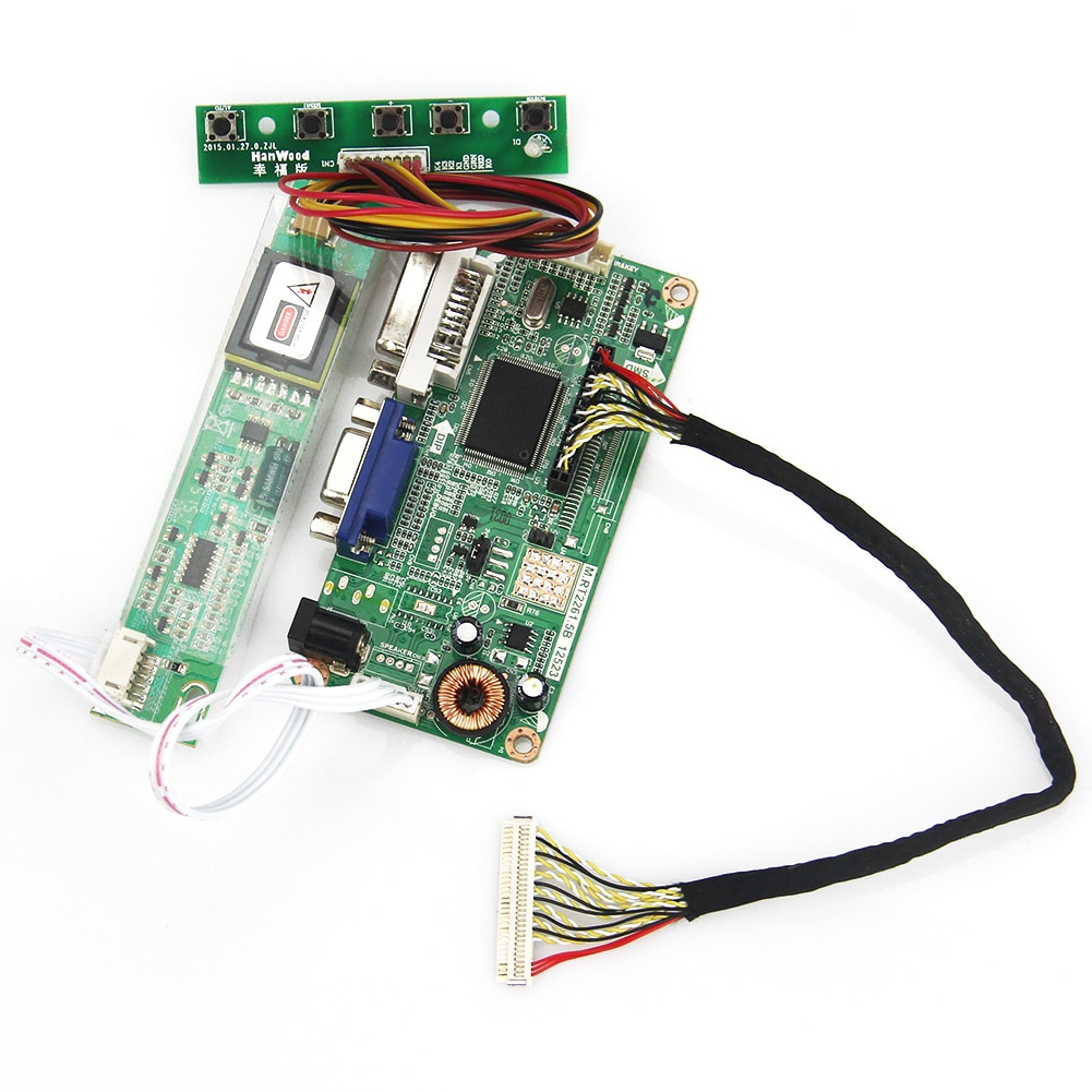 Плата контроллера VGA + DVI M. R2261 M. RT2281 LCD/LED для LTN160AT02 N156B3-L0B LP156WH1 (TL/A3) LVDS монитор ноутбука 1366x768
