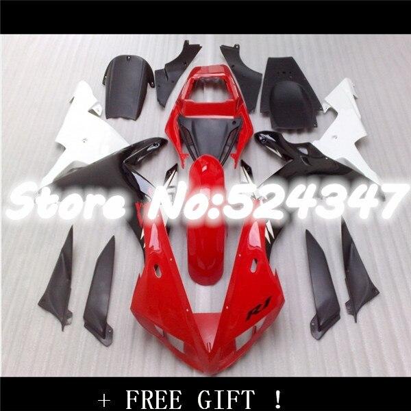 Extra rojo blanco negro Kit de carenado para YZF R1 02-03 YZF-R1 2002-2003 YZF1000 YZF R1 02 03 2002 de 2003