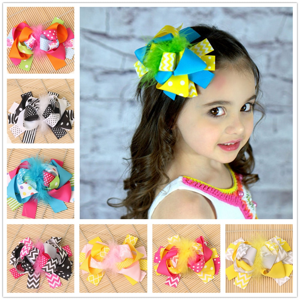 Clips de pelo para niños boutique de 6 pulgadas, accesorios, clip de lazo de cinta para horquilla para niñas, horquillas para el cabello, horquillas para el cabello, horquillas kawaii, tiara