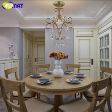 FUMAT K9 lustres en cristal créatif K9 lampe en cristal pour salle à manger salon couloir éclairages LED lustre en cristal ombre