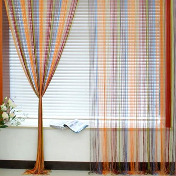 Лучшая продажа 1 м X 2 м окно бахрома стеновая панель разделитель комнаты полоса кисточка линия занавеска