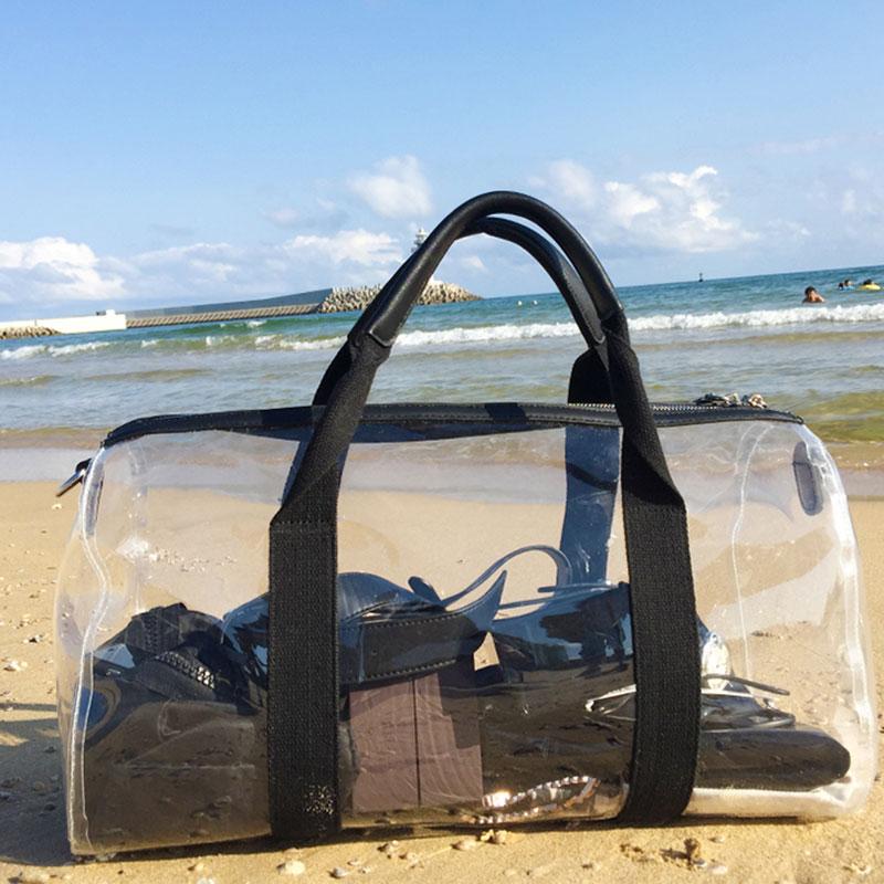 Bolso de playa para mujer, impermeable, de PVC, transparente, para nadar, para verano, XA166D