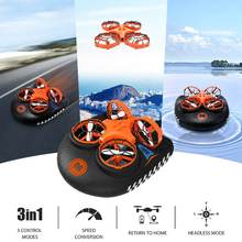 Eachine E016F 3-in-1 EPP Flying Air Boat Land Driving Mode Detachable One Key Return RC Quadcopter RTF Kids toy