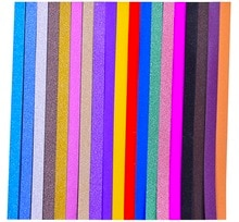 (380 pièces/lot) bandes origami colorées   19 couleurs assorties, paillettes pour star porte-bonheur