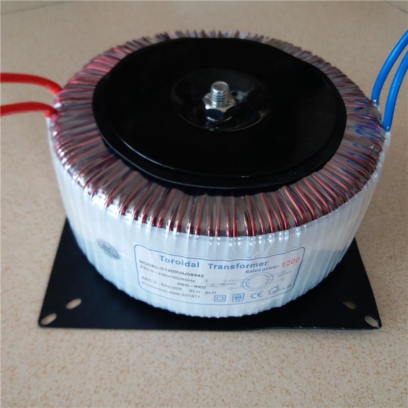 60V 20A Toroidal transformer 1200VA 230V copper custom Isolation transformer for amplifier 230V to 60V AC power transformer