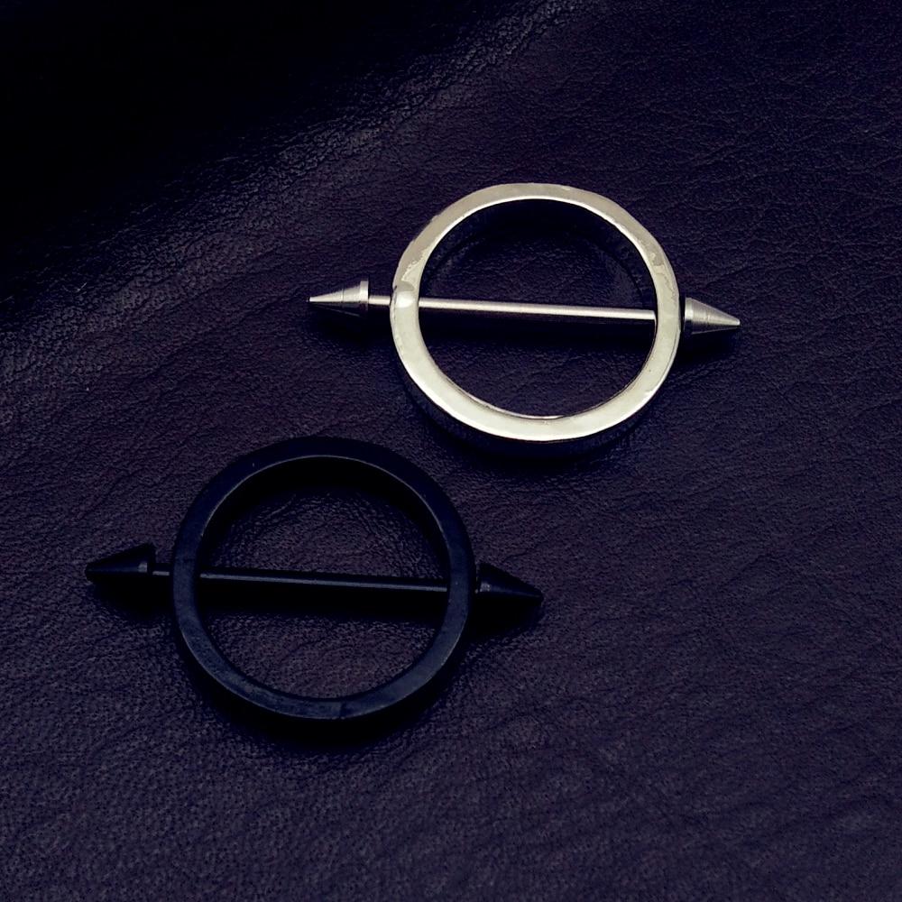 Рождество, панк, черные/серебряные штанги для сосков, 1 пара, хирургические стальные круглые кольца для сосков 316L, кольца для пирсинга 14 г, ук...