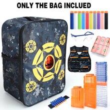 Bolsa para practicar tiro con patrón de objetivo de tela Oxford, bolsa de balas suaves para juguetes Nerf, bolsa compacta de camuflaje para almacenar balas