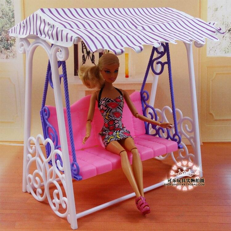 Columpio para patio de juegos, accesorios de muñeca bjd, muebles de casa,...