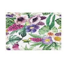 Watercor-décor de fleurs de Calla Lily   Tapis de bain antidérapants en fleurs tropicales et en feuilles de Monstera, paillasson de bain