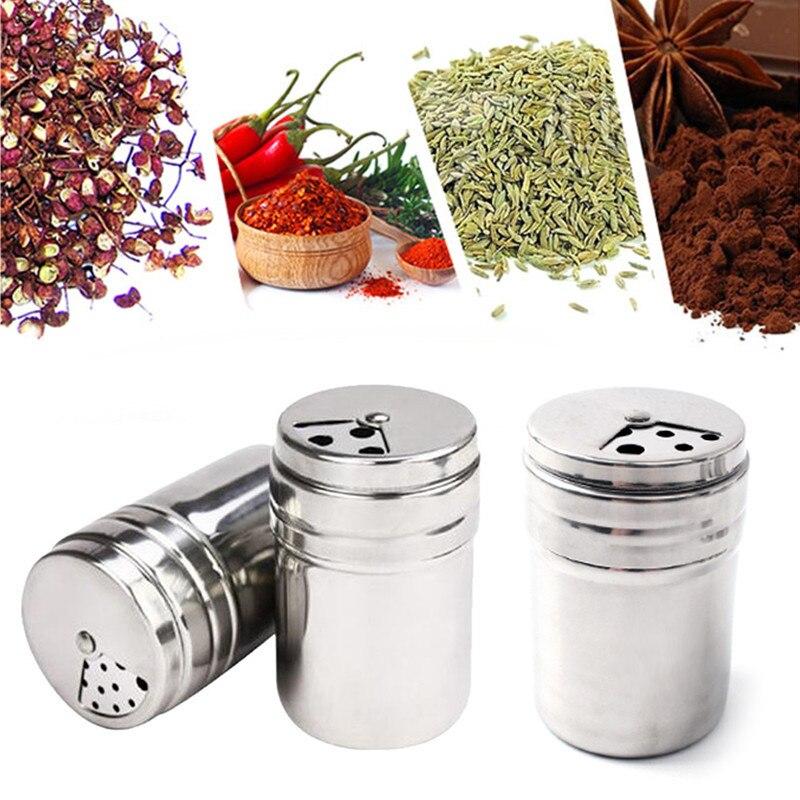 Caja de condimentos de acero inoxidable giratoria de alta calidad, tanque de condimentos, tubo de palillo de dientes, latas de pimienta, botellas, utensilios domésticos de cocina