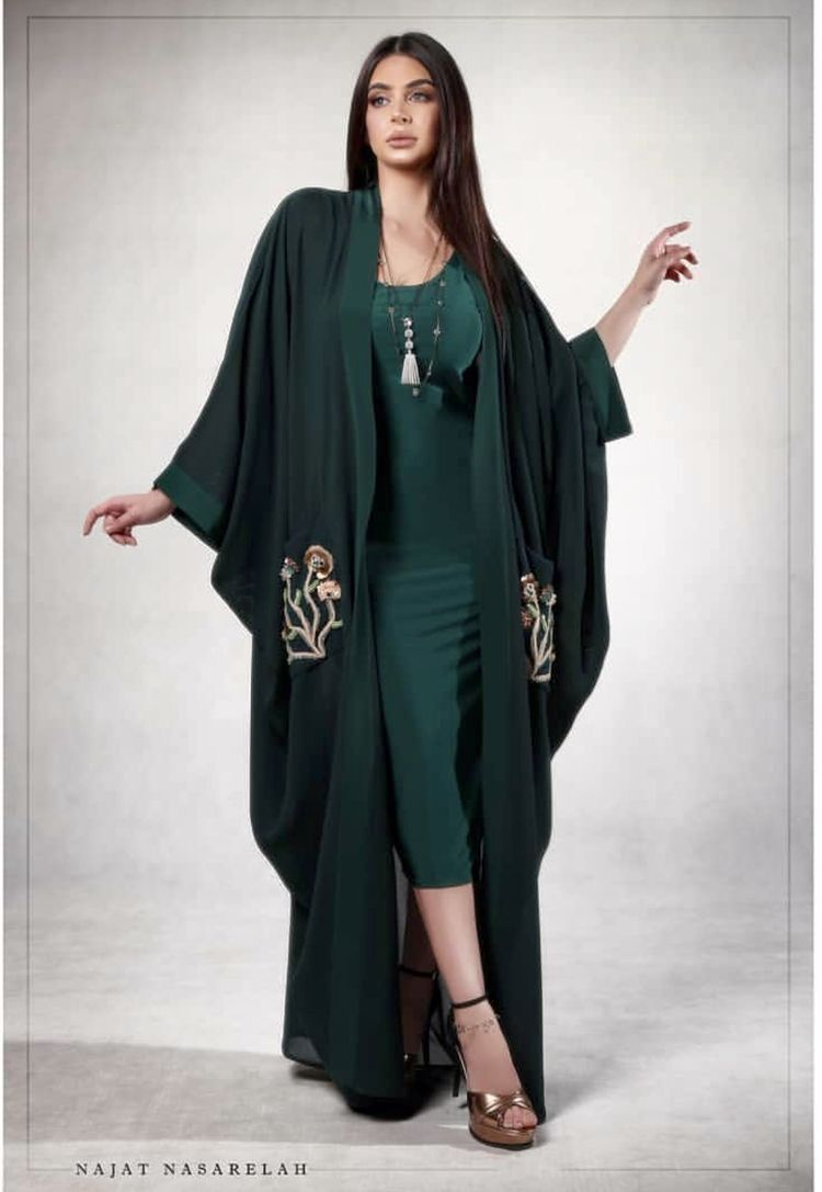 2019 Femmes Robe musulmane Cardigan broderie fleur Abaya noir Robe Marocaine Caftan saoudien arabe Duabi Musulman Robe Femmes