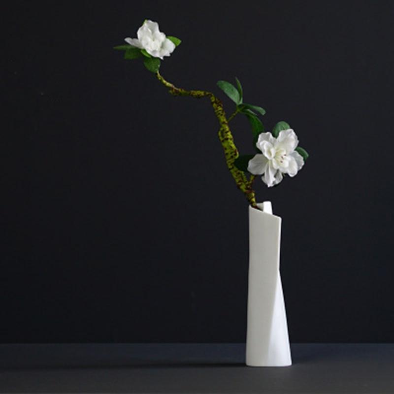 YFGXBHMX Chinese Modern Handmade Pure White Jade Porcelain Flower Home Accessories Furniture Decoration