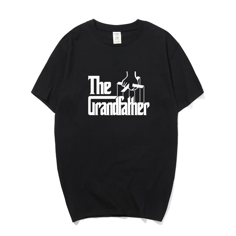 Grandfather T Shirt Funny Tees Men Novelty Grandpa Gift Cotton T-Shirt Short Sleeve Tshirts PY-003