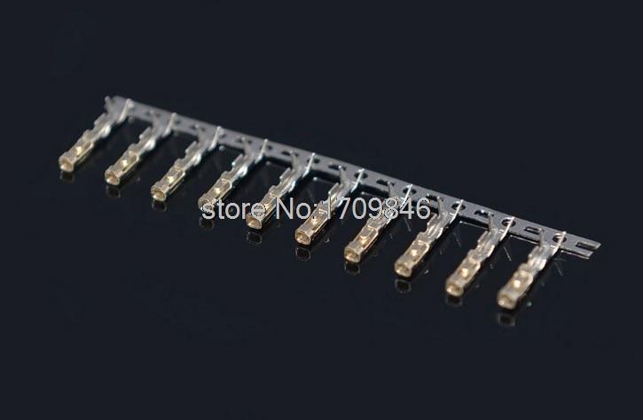 2000 قطعة الإناث دبوس دوبونت موصل الذهب مطلي 2.54 مللي متر