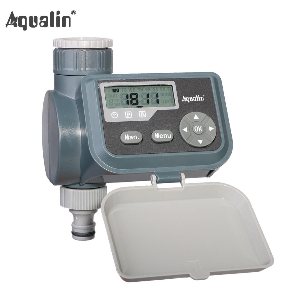 Wasserdichte LCD Bildschirm Bewässerung Timer Magnetventil Garten Wasser Timer Garten Bewässerung Controller mit Multifunktions #21004