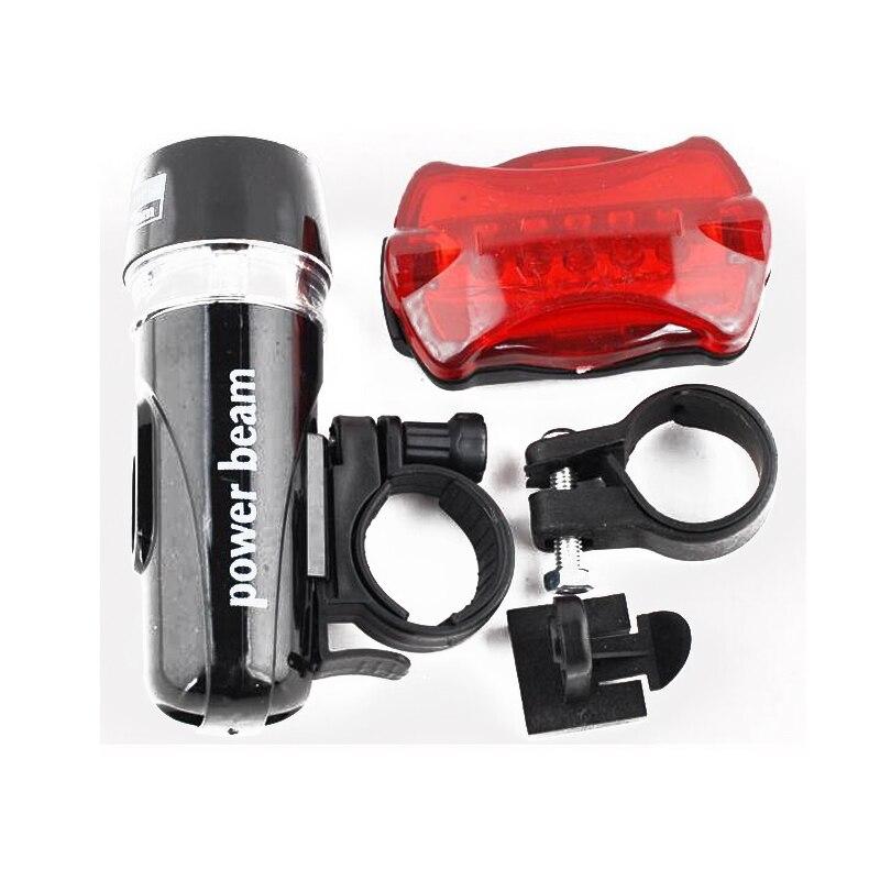 Hot Waterproof Ultra Bright 5 Led Cycling Bicycle Light Set Bike Front Head Light + 5 Led Rear Safety Flashlight Tail Light Lamp