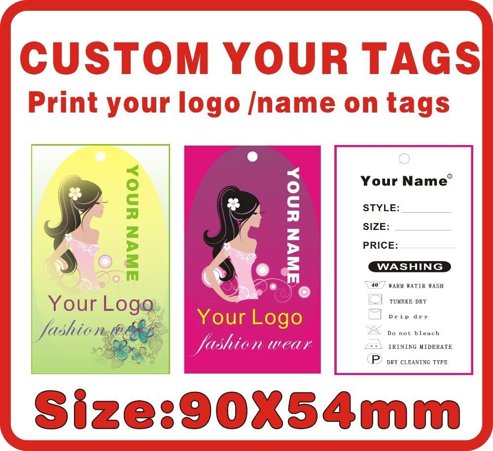 ¡Oferta! etiquetas de ropa interior personalizadas para mujer, imprime tu logotipo en las etiquetas 500 Uds. Papel de 300 gsm, etiquetas colgantes, etiquetas de precios de ropa, A7
