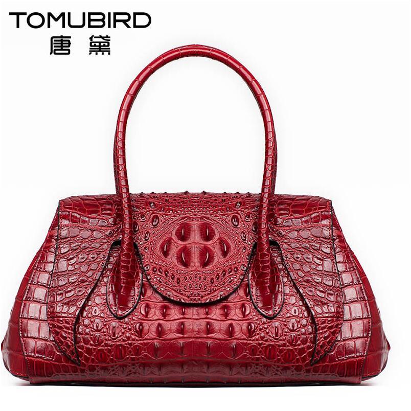 Bolso de cuero genuino para mujer, bolso de moda con patrón de cocodrilo, bandolera de hombro Retro, bolso Diana package