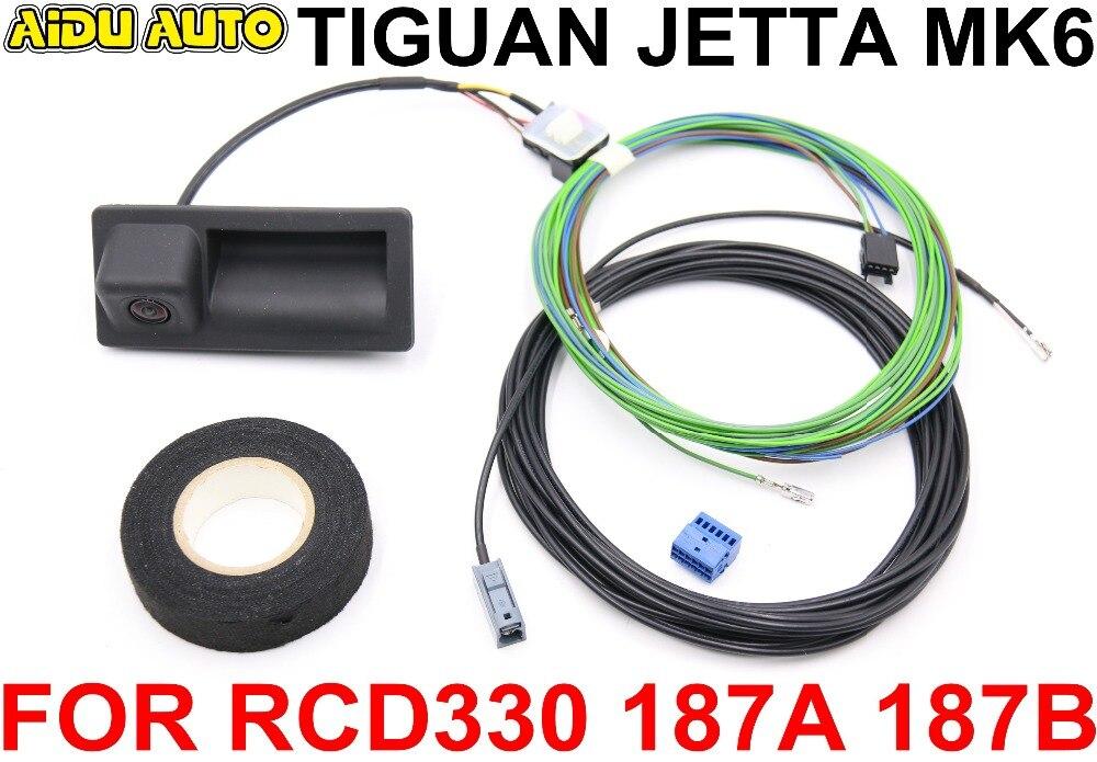 RCD330 RCD330 Plus 187A 187B MIB радиоприемник ручка багажника камера заднего вида комплект низкой камеры для VW JETTA MK6 TIGUAN