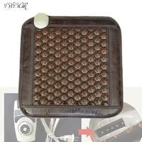 2020 hot sale in alibaba heating germanium stone mattress heating ocher stone seat cushion 4545cm