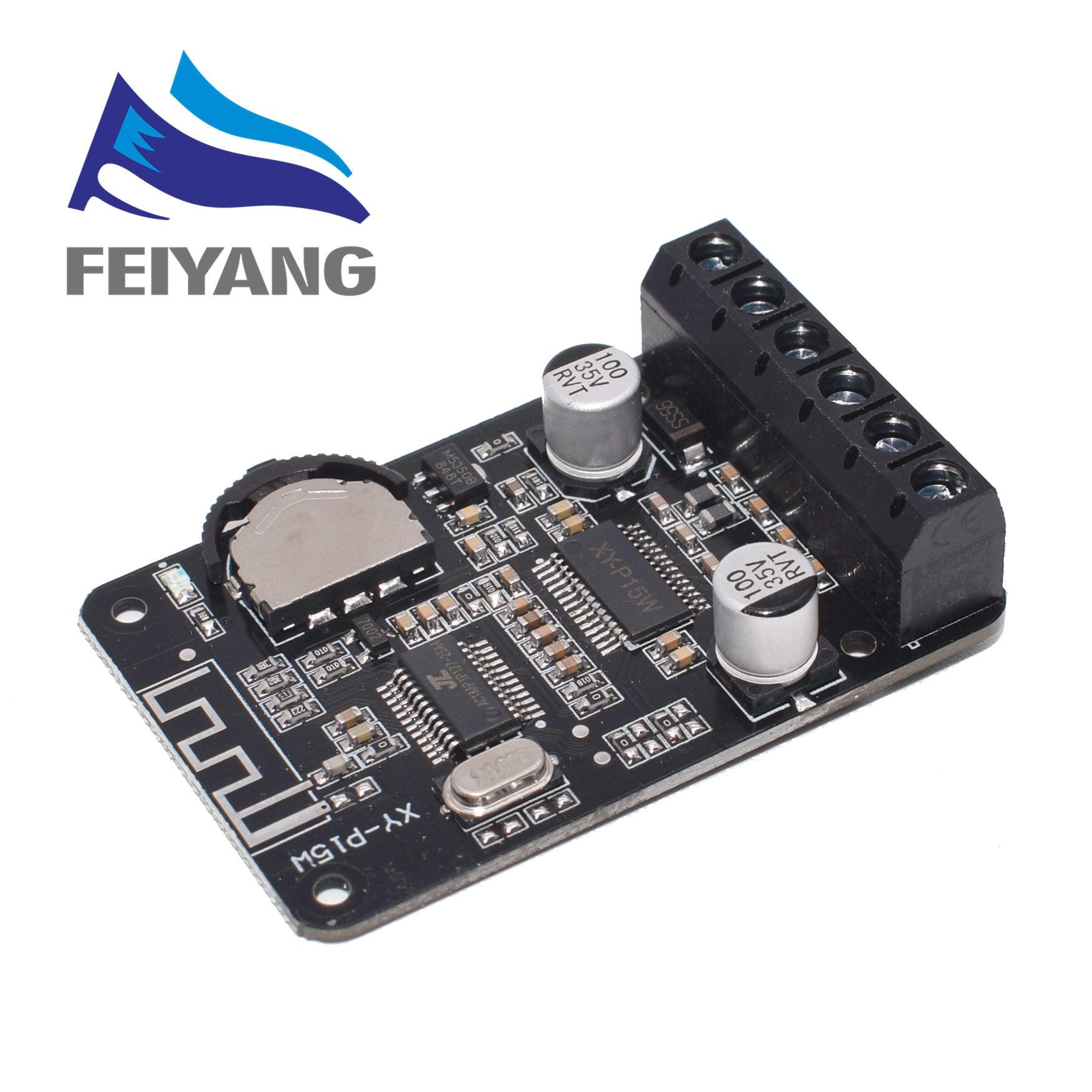 10W/15W/20W Placa De Amplificador de Potência Estéreo Bluetooth 12V/24V de Alta Potência módulo Amplificador Digital XY-P15W