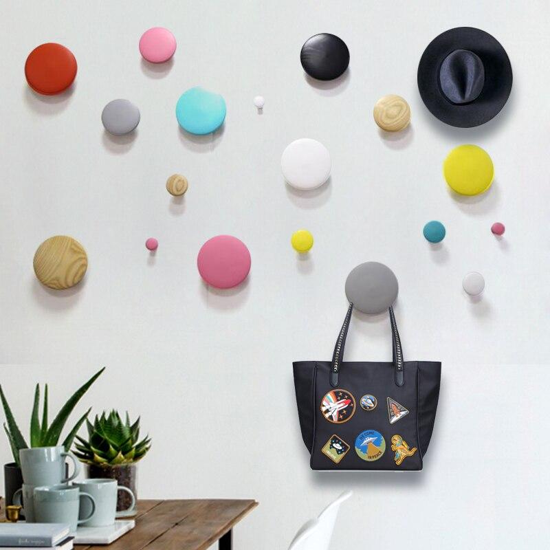 Wooden Hook Wall Hanger Garden Key / Clothes DIY Wooden Handbag Beautiful Home Decoration