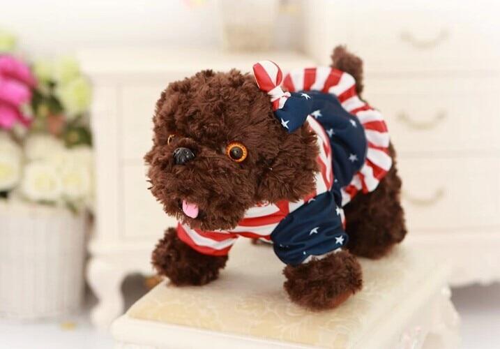 30cm Teddy dog plush toy cloth girl dog chocolate dog doll originality birthday gift w5245
