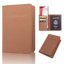 Pochette de rangement en cuir pour passeport   Pochette de protection, dédiée joli voyage pour carte didentité, étui porte-couvercle, organisateur de cartes passeport billets 2018 B #