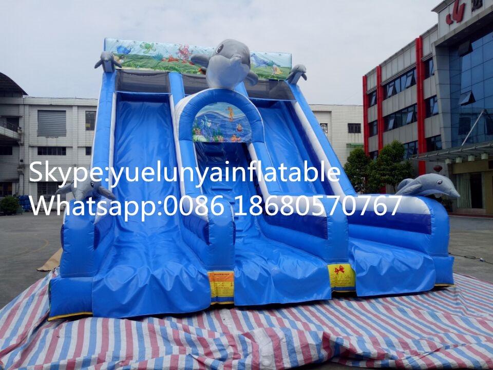 2016 new Factory direct Inflatable slide,Underwater world slide, Dolphin slide KY-114