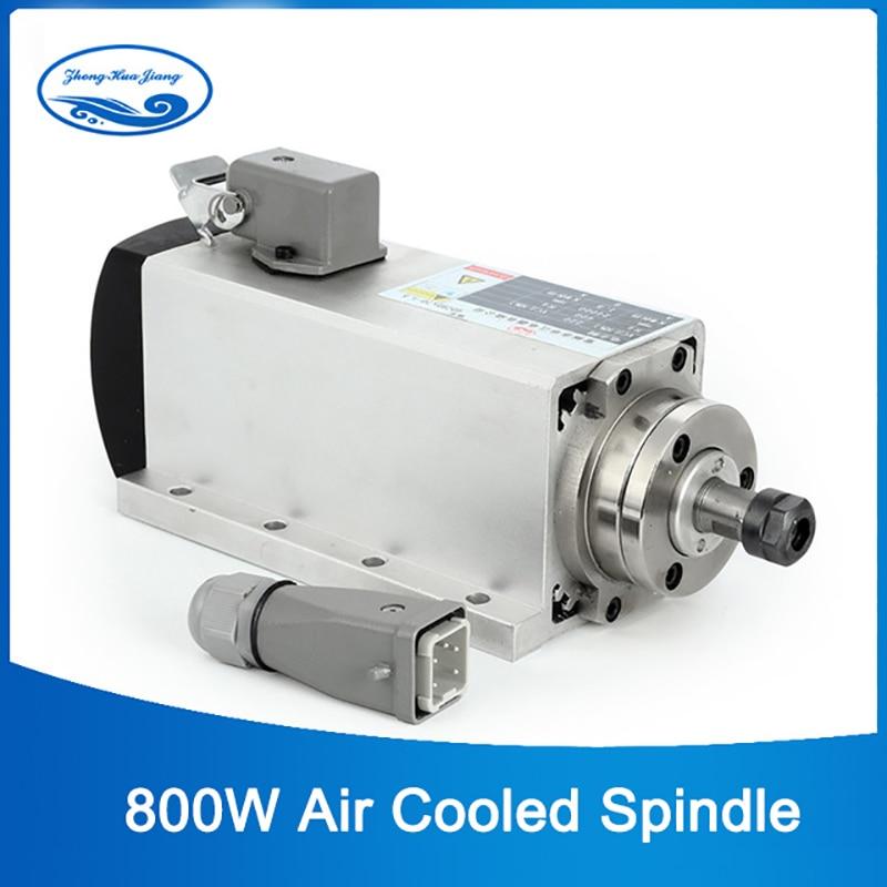 عالية السرعة المغزل 800w الهواء التبريد cnc طحن المغزل موتور 0.8kw 220v ER11 مع 4 قطعة تحمل ل cnc راوتر