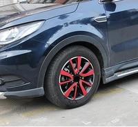 for dongfeng dfsk 580 4 tires hub carbon fibre pattern decoration sticker