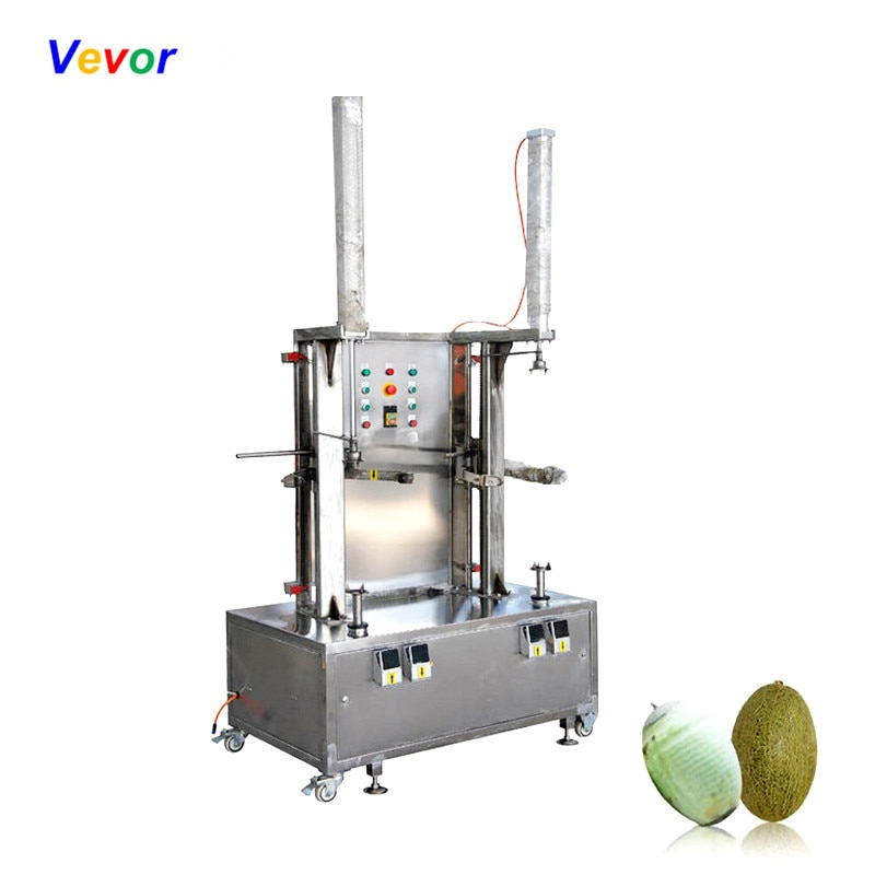 Peladora de melón de una sola cabeza, pelador de verduras y frutas de calabaza, máquina ajustable de acero inoxidable