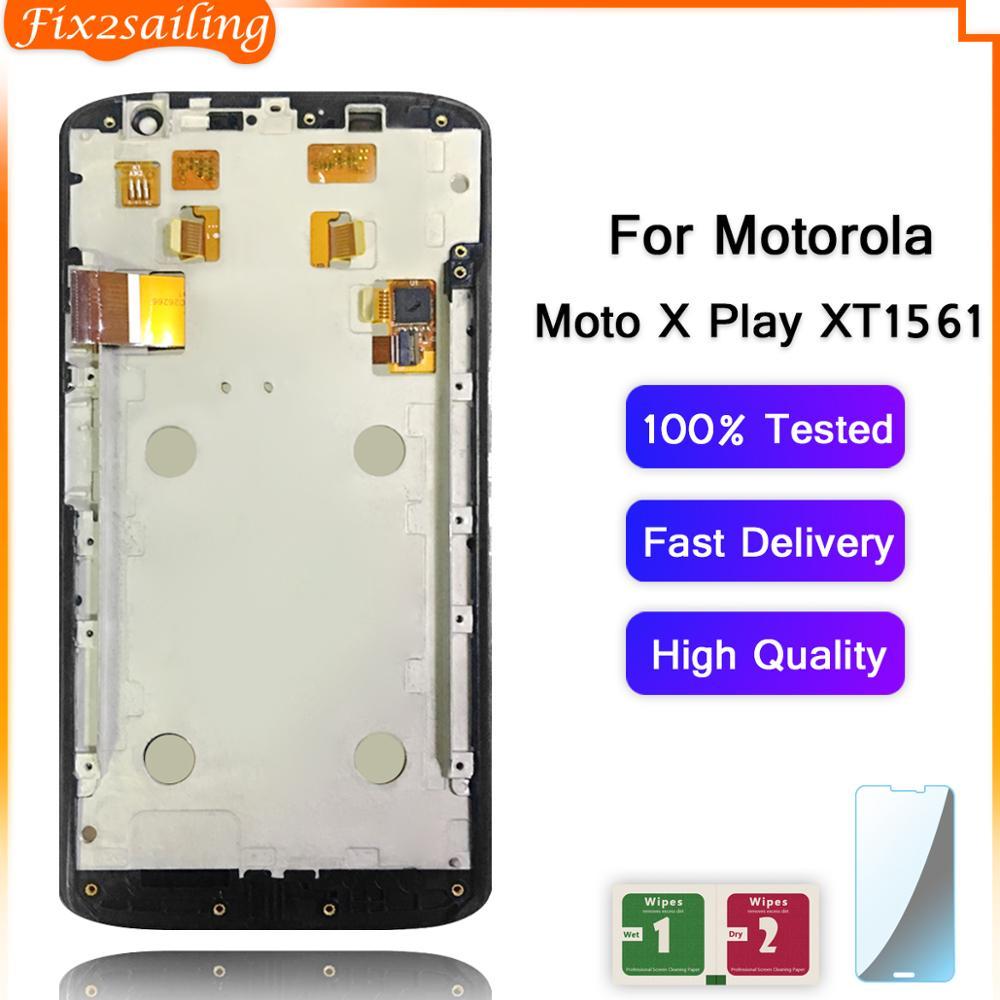 Pantalla LCD para Motorola Moto X Play XT1561 XT1562 XT1563 pantalla táctil digitalizador montaje completo para Moto X Play LCD con marco