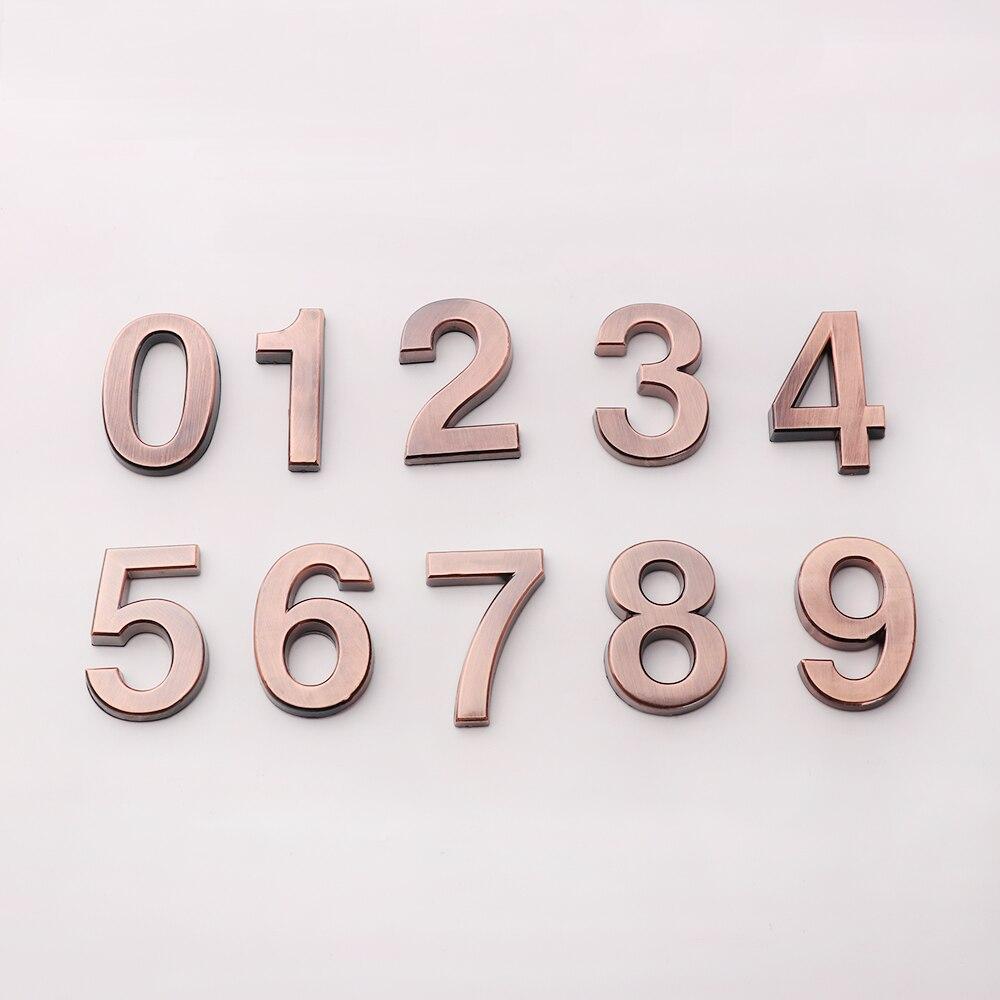 1PC 0-9 ABS Plastic Cijfer zelfklevende Huis Thuis Plaque Adres Teken Kamer Deur Nummer Cijfers sticker Cijfer Teken