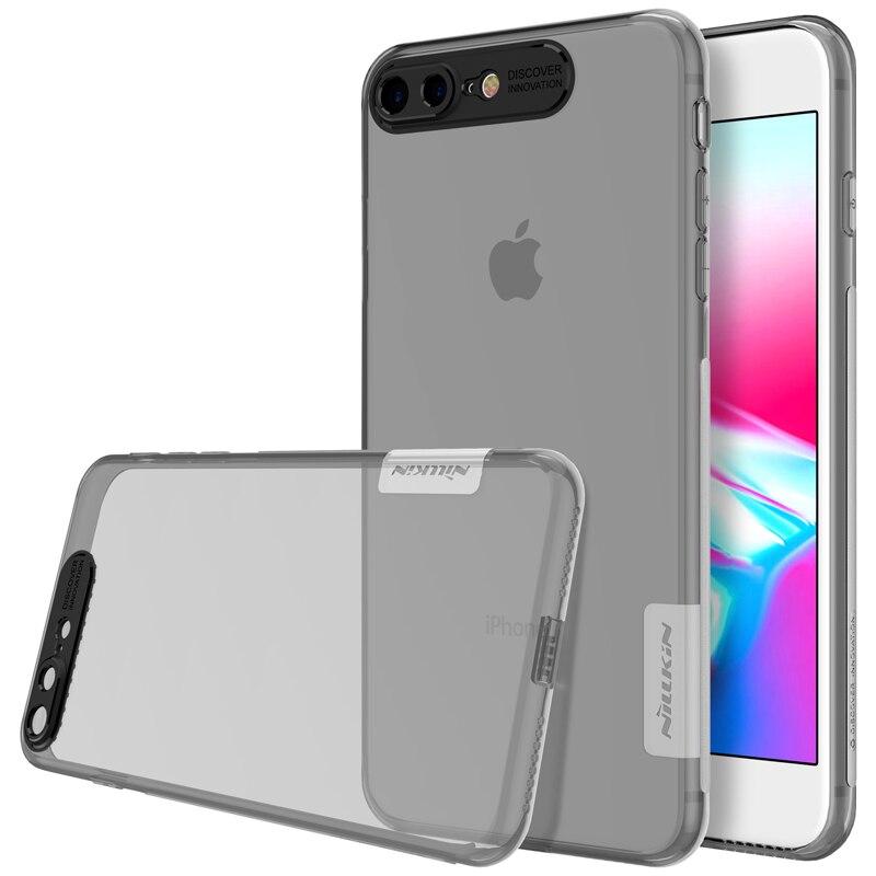 Funda para iphone 8 plus 5,5 Nillkin naturaleza transparente silicona transparente suave TPU cubierta de lujo fundas para iphone 8 plus cubierta